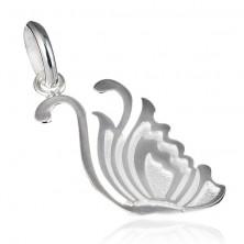 Ezüst medál - gravírozott hattyú