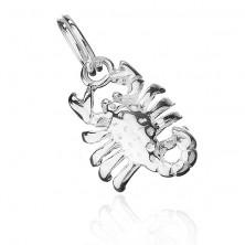Medál 925-ös ezüstből - fényes skorpió
