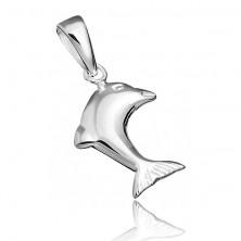 Sterling ezüst medál - egyszerű delfin