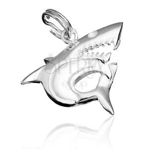 Medál sterling ezüstből - ragadozó cápa