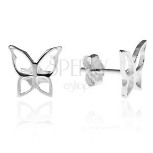 Bedugós 925 ezüst fülbevaló - fényes lepke