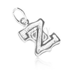 Sterling ezüst medál - dekoratív Z betű