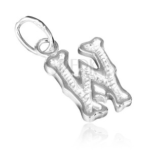 Medál sterling ezüstből - nyomtatott W betű