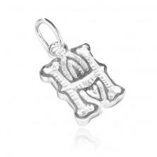 Sterling ezüst medál - díszes H betű