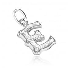 Sterling ezüst medál - kivágott E betű