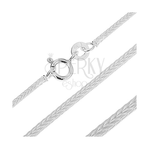 925 ezüst nyaklánc - sűrű, négyszögletes vonal, 1,4 mm