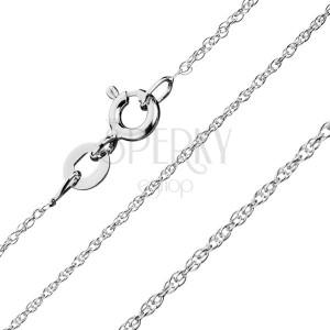 925 ezüst nyaklánc - sor csavart kis láncszemekből, 1 mm