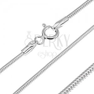 Ezüst nyaklánc - ízelt kígyólánc, 1,4 mm
