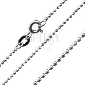 Ezüst nyaklánc - összekapcsolt ragyogó golyócskák, 1,2 mm