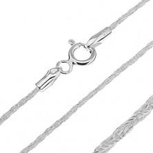Nyaklánc ezüstből - ragyogó csavart vonal, 1,3 mm