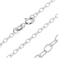 Ezüst nyaklánc - egyszerű ovális szemek, 3 mm