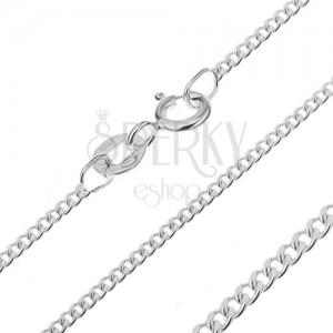 925 ezüst nyaklánc - sűrűn összekapcsolt szemek, 1,6 mm