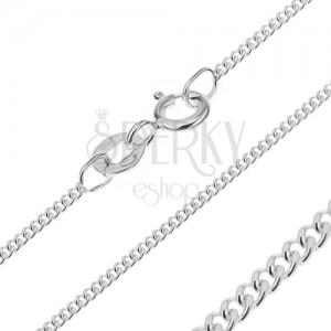 Nyaklánc ezüstből - sűrű láncszemek, 1,4 mm