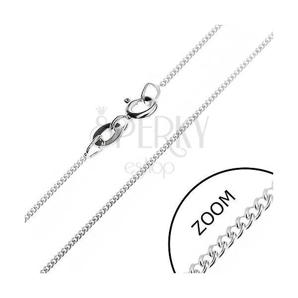 Finom nyaklánc 925 ezüstből - sűrű láncszemek, 0,8 mm