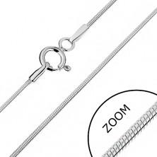 Nyaklánc 925 ezüstből - legömbölyített kígyó dizájn, 1 mm