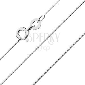 Ezüst nyaklánc - legömbölyített, kígyóminta, 0,9 mm