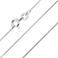 925 ezüst nyaklánc - legömbölyített, kígyó dizájn, 0,6 mm