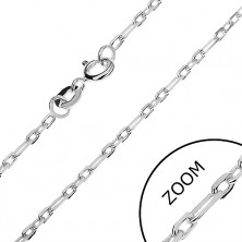 Nyaklánc ezüstből - fényes téglalapok, 2 mm