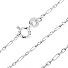 Sterling ezüst nyaklánc - szögletes szemek, 1,6 mm