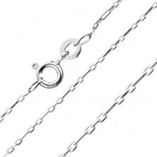 Finom ezüst nyaklánc - fényes téglalapok, 1,2 mm