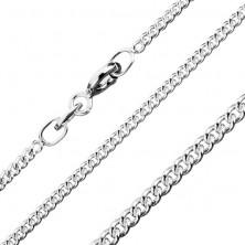 925 ezüst nyaklánc - kerek láncszemek, 1,7 mm