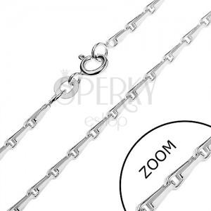 Sterling ezüst nyaklánc - fényes hurkok, 2 mm