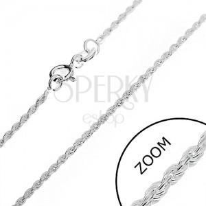 Ezüst nyaklánc - csiszolt spirál, 1,5 mm