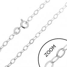 925 ezüst nyaklánc - sima oválisok, 2,6 mm