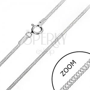 Nyaklánc ezüstből - sűrűn kapcsolt láncszemek, 1,4 mm