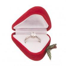 Dobozka gyűrűnek - piros szamóca
