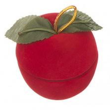 Bársony dobozka gyűrűnek - alma levelekkel