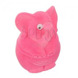Ajándékdoboz ékszereknek - rózsaszínű elefánt