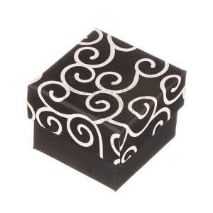 Dobozka gyűrűnek - fekete, fehér ornamentumokkal