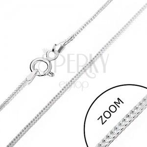 Ezüst nyaklánc - szögletes vonal, 1 mm