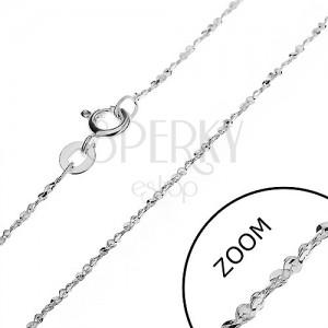 Ezüst nyaklánc - hullámos elemek spirál alakban, 1,2 mm