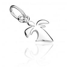Ezüst függő - kis angyal hosszú ruhában