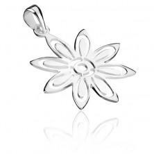 Ezüst medál - virág kivágott szirmokkal