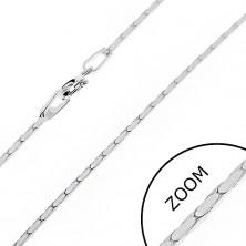 925 ezüst nyaklánc - oválisok szögletes élekkel, 1 mm