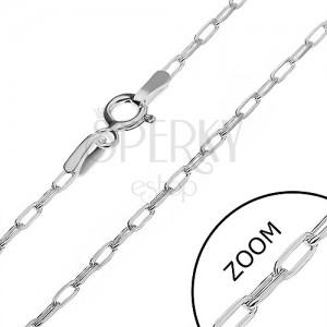 Ezüst nyaklánc - fényes sima téglalapok, 2 mm