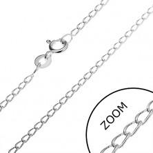 Nyaklánc 925 ezüstből - hosszúkás gömbölyített szemek, 1,7 mm