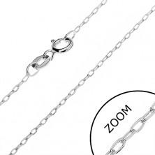 925 ezüst nyaklánc - csiszolt keskeny láncszemek, 1 mm