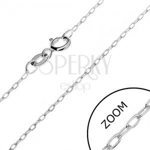 925 ezüst nyaklánc - csiszolt keskeny láncszemek, 1,2 mm