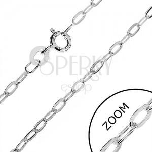 Nyaklánc 925 ezüstből - ovális, lapos szemek, 2,2 mm