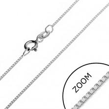 Nyaklánc ezüstből - sűrűn kapcsolt üres kockák, 0,85 mm
