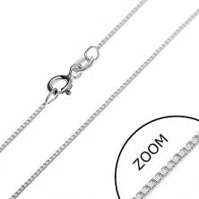 Nyaklánc 925 ezüstből - derékszögben összekapcsolt fényes kockák, 0,75 mm