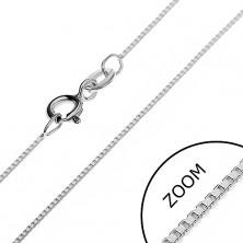 Ezüst nyaklánc - merőlegesen kapcsolt üreges kockák, 0,7 mm