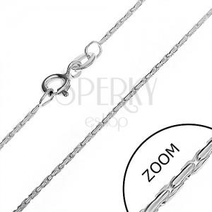 Nyaklánc 925 ezüstből - kígyó négy sor pálcából, 1,1 mm