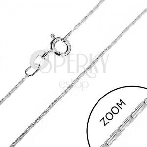 Ezüst nyaklánc - gömbölyű vonal kis pálcákból, 0,9 mm