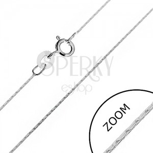 Ezüst nyaklánc - fényes kígyó pálcikákból, 0,6 mm