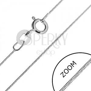 Nyaklánc 925 ezüstből - sűrűn összekapcsolt pálcák, 0,5 mm